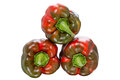 Reddish sweet peppers Royalty Free Stock Photo