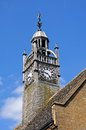 Redesdale hall clock tower moreton in marsh decorative against a blue sky cotswolds gloucestershire england uk western europe Royalty Free Stock Photos