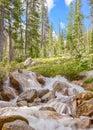 Redfish湖小河附庸国,锯齿全国度假区, id 免版税库存照片