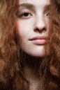 Redhead beauty portrait Royalty Free Stock Images