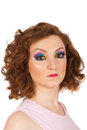 Redhead woman with creative make up Royalty Free Stock Photos