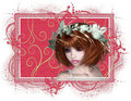 Redhead Woman Tag Royalty Free Stock Images