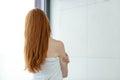 Redhead Woman In Towel