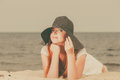 https---www.dreamstime.com-stock-photo-summertime-outfit-accessories-concept-happy-redhead-woman-wearing-big-black-sun-hat-lying-beach-summer-redhead-woman-image107119850