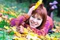 Redheaded autumn Royalty Free Stock Photos