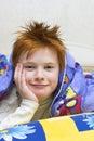 Redheaded happy boy Royalty Free Stock Photo