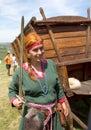 Redheaded medieval girl