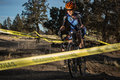 Redmond golf cross cyclo cross race the in oregon Stock Images