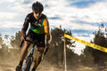 Redmond golf cross cyclo cross race the in oregon Royalty Free Stock Photo