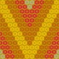 The Redness of V Letter Pattern Wallpaper