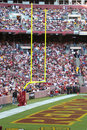 Redskins End zone: NFL - American Football Royalty Free Stock Photos