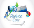 Reduce cost business concept illustration design over white Royalty Free Stock Photo