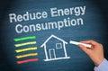 Reduce energy consumption Royalty Free Stock Photo