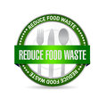 Reduce food waste seal sign concept illustration design over white background Royalty Free Stock Image
