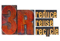 Reduce, reuse, recycle - 3R concept Stock Photography