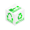 Reduce Reuse Recycle Cube Royalty Free Stock Images