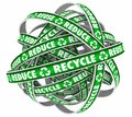 Reduce Reuse Recycle Endless Loop Dispose Trash Materials 3d Ill Royalty Free Stock Photo