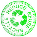 Reduce Reuse Recycle Stamp Royalty Free Stock Image