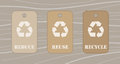 Reduce reuse recycle tags Royalty Free Stock Photo