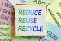 Reduce Reuse Recycle Concept Royalty Free Stock Photo
