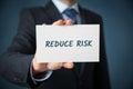 Reduce risk Royalty Free Stock Photo