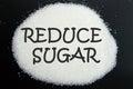 Reduce sugar Royalty Free Stock Photo