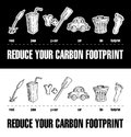 Reduce Your Carbon Footprint Rebus 2 Royalty Free Stock Photos