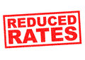 REDUCED RATES Royalty Free Stock Photo