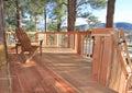 Redwood deck Royalty Free Stock Photo