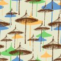 Reed beach umbrellas colorful seamless pattern