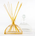Reed diffuser a close up of a room on a white background Stock Photography