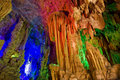 The reed flute cave guilin guangxi Stock Photos