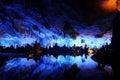Reed flute caves i guilin Royaltyfria Foton