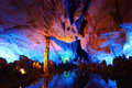 Reed flute caves i guilin Royaltyfria Foton