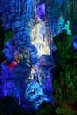 Reed flute caves i guilin kina Royaltyfria Bilder