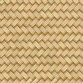 Reed mat with woven texture of crosshatched straws Royalty Free Stock Photo
