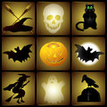 Reeks halloween illustraties Royalty-vrije Stock Foto