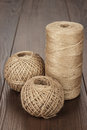Reel and balls of durable thread Royalty Free Stock Photo
