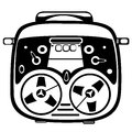 Reel tape recorder on white background Royalty Free Stock Images