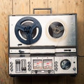 Reel to reel tape player and recorder Royalty Free Stock Photo