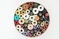 Reels of thread a lot Royalty Free Stock Photo