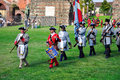 Reenactment of siege of Turin, september 1706. Stock Images
