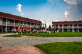 Reenactment on a summer day at fort mchenry baltimore maryland Stock Image
