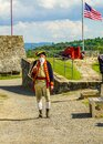 Reenactor at the historic Fort Ticonderoga in Upstate New York