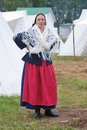 Reenactor woman portrait at Borodino.