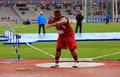 Reese hoffa on decanation international outdoor games on september in paris france american shot putter world champion won bronze Stock Photos