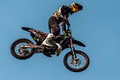 Reestyle motocross - high jump Royalty Free Stock Photo