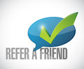 refer a friend approval message sign illustration Royalty Free Stock Photo