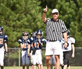 Referee Calling a Play Stock Photography