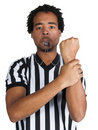 Referee with play gesture Stock Images